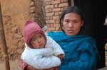 A mother and child in Nepal, photo taken by Karen Hodges