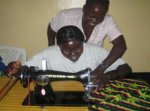 Rose and Rebecca, new sewing machines in Sudan