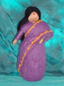 The first of 3 dolls to be auctioned off at our tea, made by GWP steering committee member Anke Pietsch