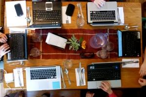 the luxury of having six laptops