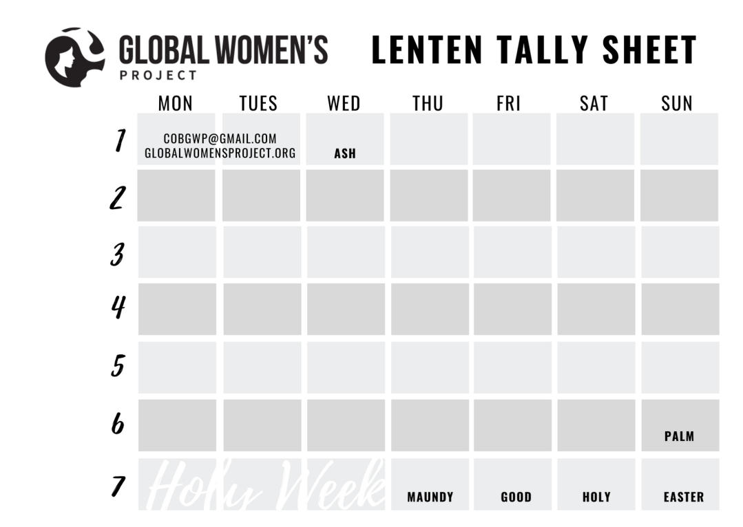 GWP Tally Sheet